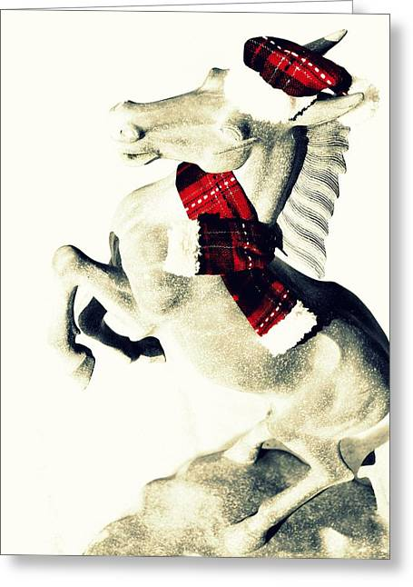 Holiday Plaid Greeting Card by JAMART Photography