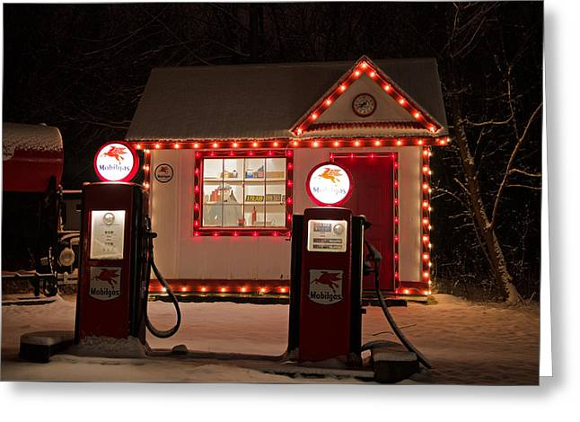 Holiday Service Station Greeting Card