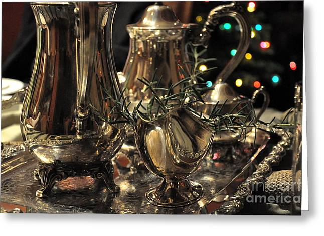 Holiday Silver  2 Greeting Card