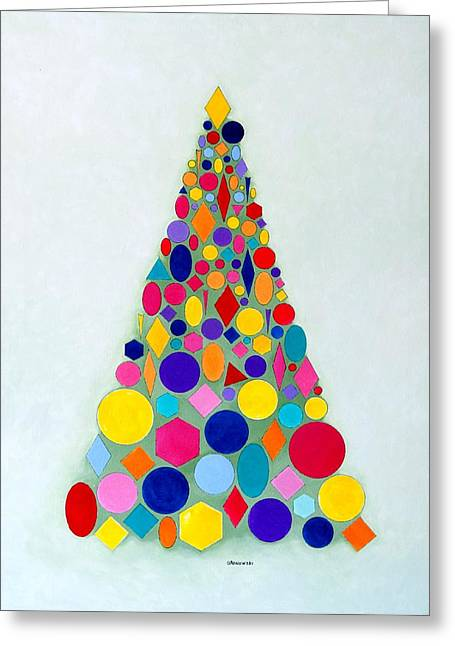 Holiday Tree #1 Greeting Card by Thomas Gronowski