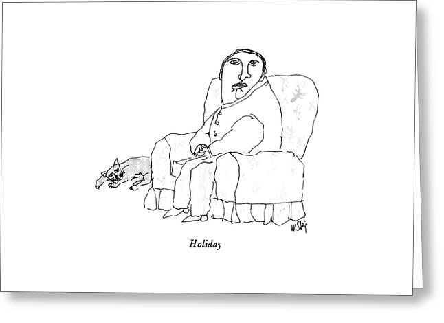 Holiday Greeting Card by William Steig