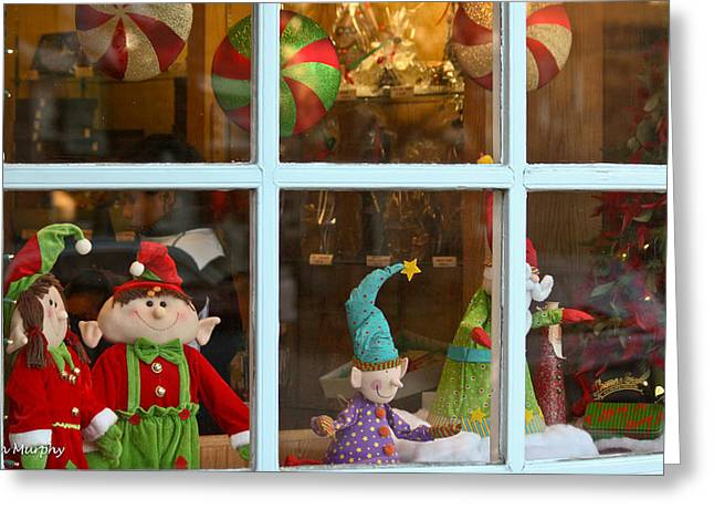 Greeting Card featuring the photograph Holiday Window by Ann Murphy