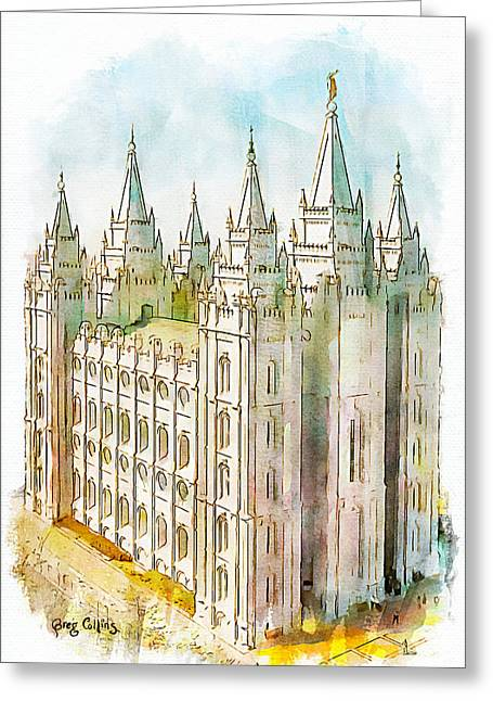 Holiness To The Lord Greeting Card by Greg Collins