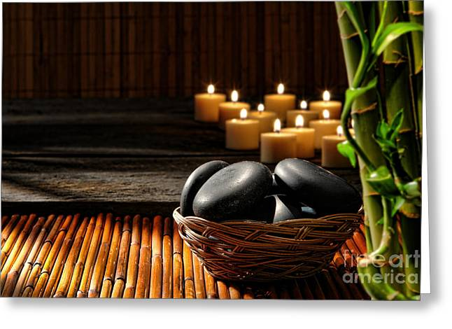 Holistic Massage Greeting Card by Olivier Le Queinec