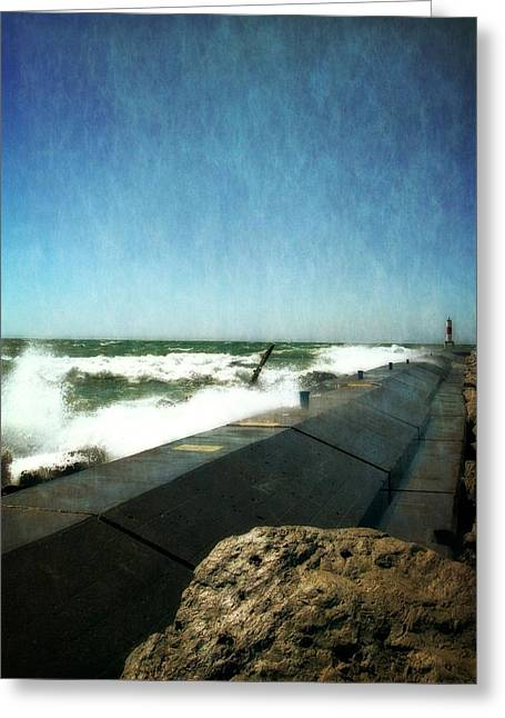 Holland Harbor Breakwater Greeting Card