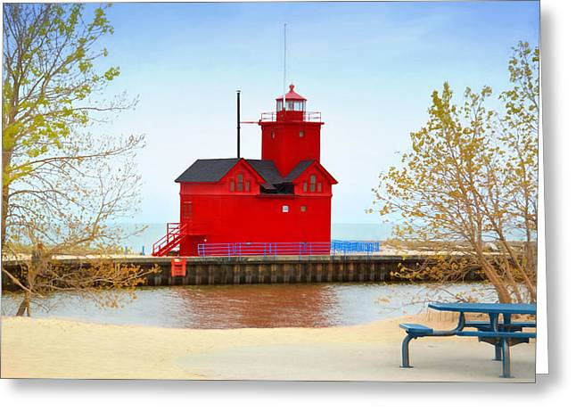 Holland Harbor Light Greeting Card