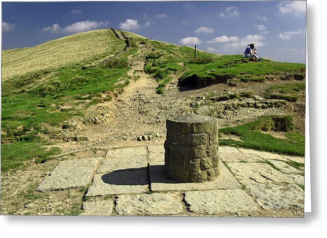 Hollins Cross On The Great Ridge Greeting Card by Rod Johnson