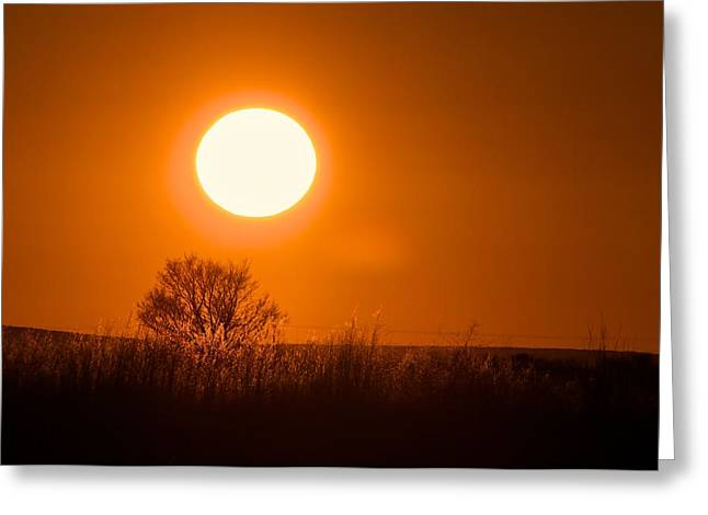 Greeting Card featuring the photograph Hollister Idaho Spring Sunset by Michael Rogers