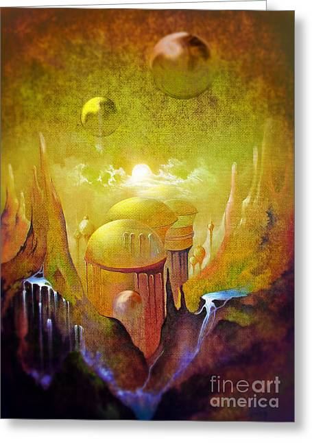 Hollow Earth Agharta Greeting Card