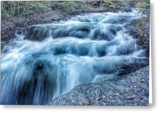 Hollow River Rapids Greeting Card by Lee Burgess
