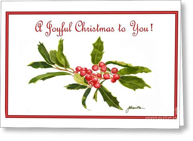 Holly Berries Note Card Greeting Card