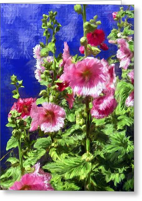 Hollyhock Haven Greeting Card