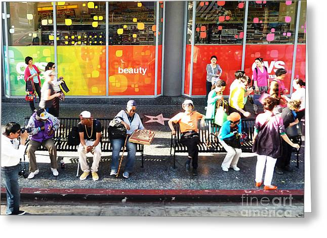 Hollywood Bus Stop Greeting Card