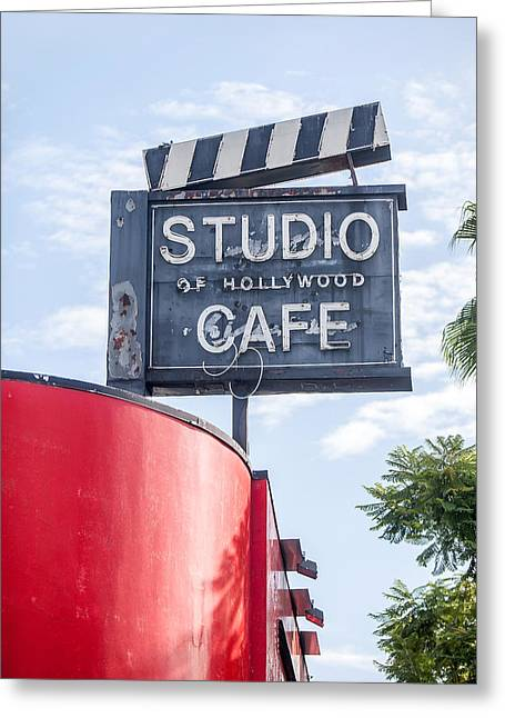 Hollywood Cafe Greeting Card by Art Block Collections