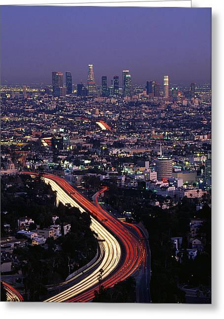 Hollywood Freeway Los Angeles Ca Greeting Card