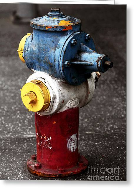 Hollywood Hydrant Greeting Card by John Rizzuto