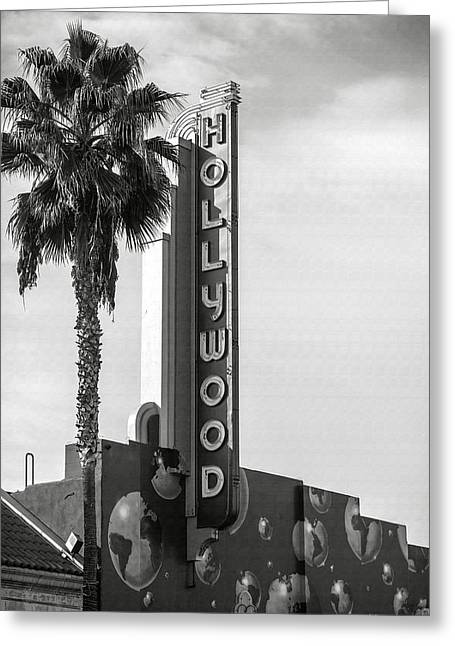 Hollywood Landmarks - Hollywood Theater Greeting Card by Art Block Collections
