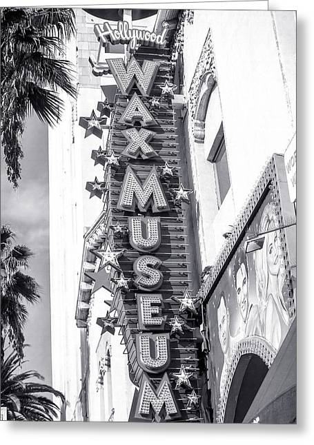 Hollywood Landmarks - Hollywood Wax Museum Greeting Card by Art Block Collections