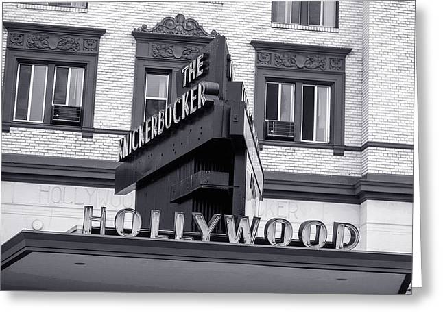 Hollywood Landmarks - The Knickerbocker Greeting Card by Art Block Collections