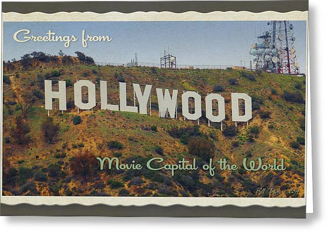 Hollywood Postcard Greeting Card by Bill Jonas