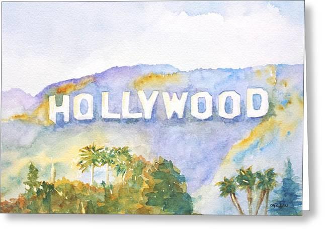Hollywood Sign California Greeting Card by Carlin Blahnik