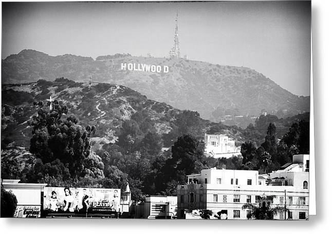 Hollywood Sign Greeting Card by John Rizzuto