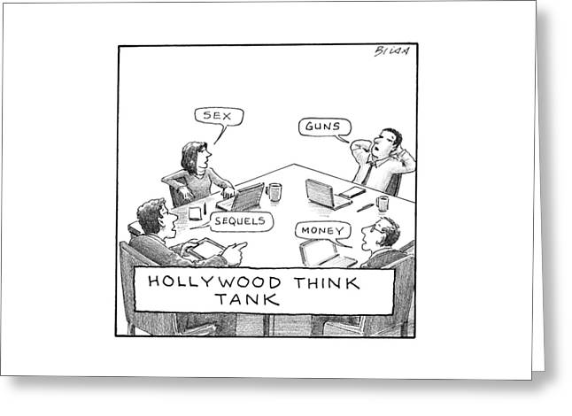 Hollywood Think Tank Greeting Card