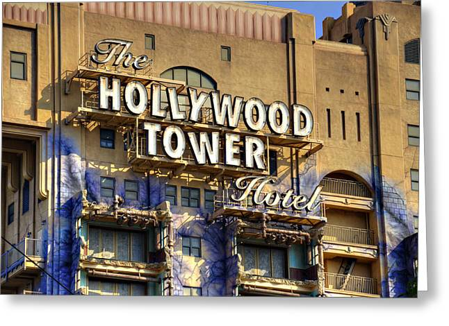 Hollywood Tower Greeting Card by Ricky Barnard