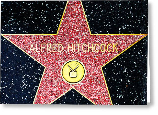 Hollywood Walk Of Fame Alfred Hitchcock 5d28961 Greeting Card by Wingsdomain Art and Photography