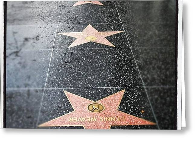 #hollywood #walkoffame #tour #tourist Greeting Card