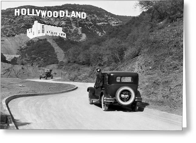 Hollywoodland Greeting Card by Underwood Archives