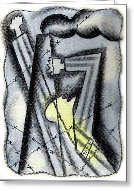 Holocaoust Greeting Card by Leon Zernitsky