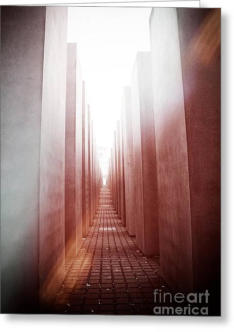Holocaust Memorial Berlin Greeting Card by Jane Rix