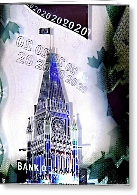 Holographic Parlement Greeting Card by Danielle  Parent