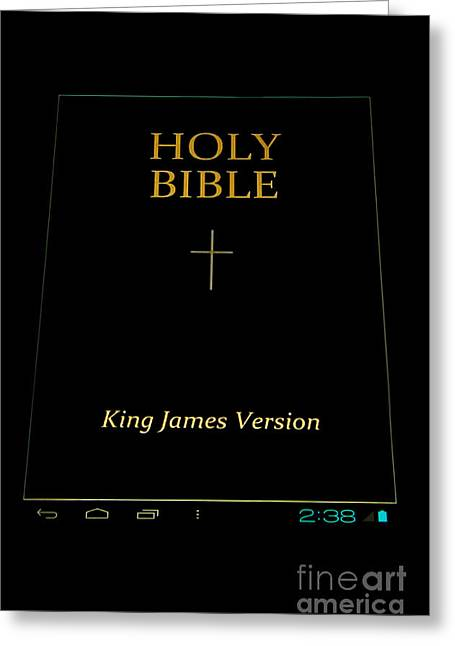 Holy Bible In Android Greeting Card