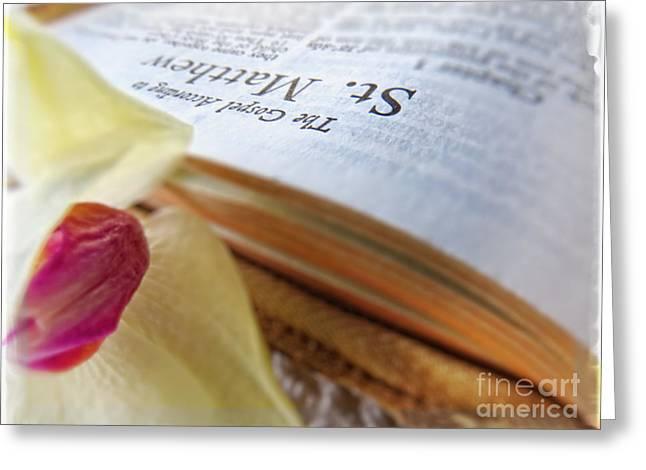Holy Bible - The Gospel According To Matthew Greeting Card by Ella Kaye Dickey