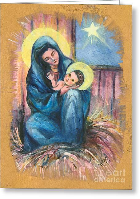 Holy Christmas No. 1  Greeting Card by Elisabeta Hermann