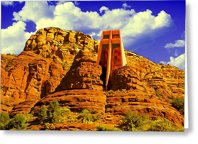 Holy Cross Chapel Coconino National Forest Greeting Card
