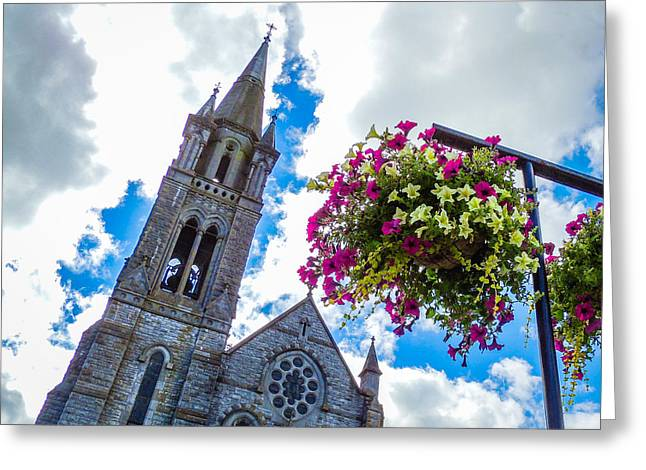 Holy Cross Church Steeple Charleville Ireland Greeting Card