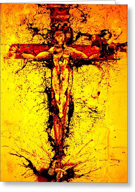 Holy Cross Unholy Sword Greeting Card