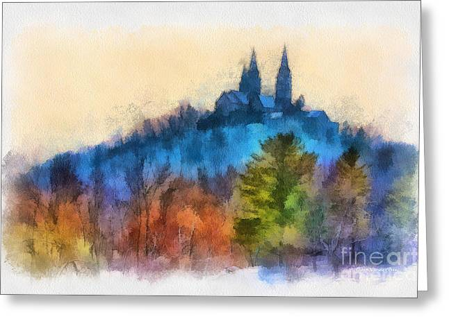 Holy Hill Autumn Greeting Card by Clare VanderVeen