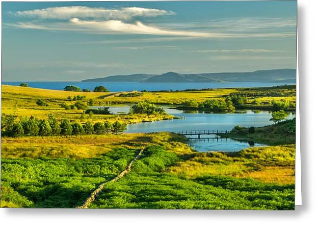 Holy Isle Arran From Fairlie Greeting Card