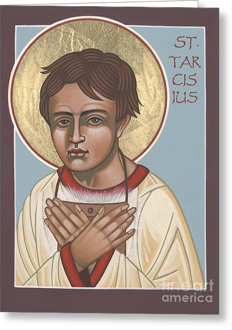 Holy Martyr St. Tarcisius Patron Of Altar Servers 271 Greeting Card