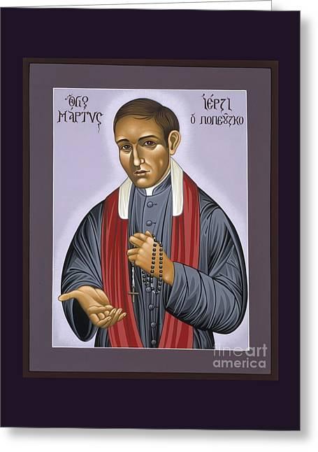Holy New Martyr Father Jerzy Popieluszko 030 Greeting Card by William Hart McNichols