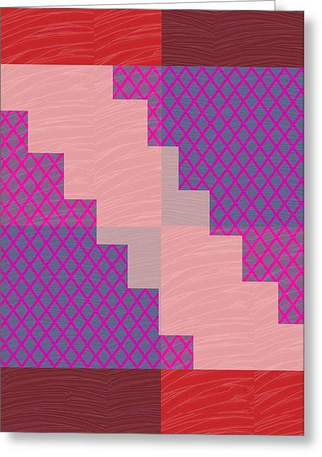 Holy Purple Diamond Pattern And Silken Light Crystal Across Greeting Card by Navin Joshi