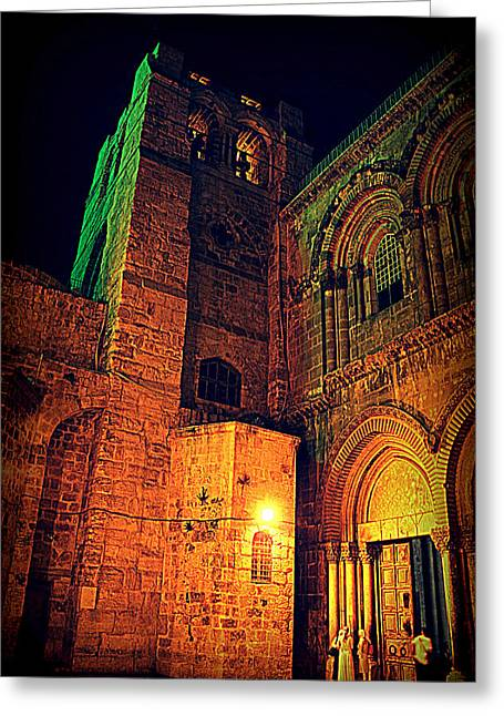 Holy-sepulchre Greeting Card by Amr Miqdadi