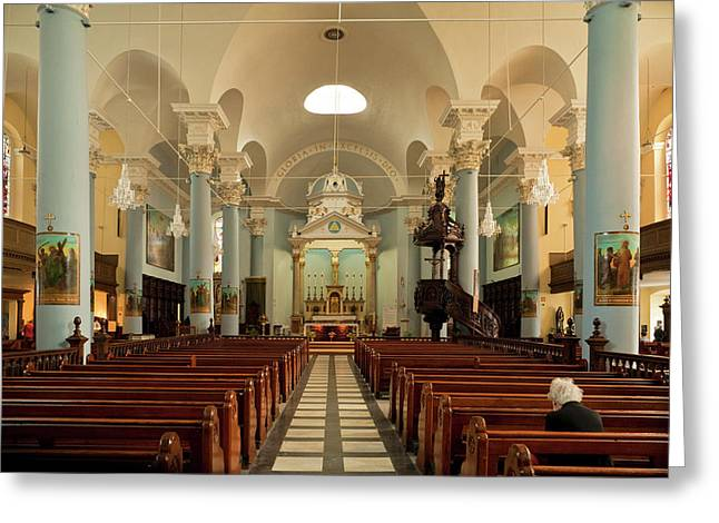 Holy Trinity Cathedral Roman Catholic Greeting Card by Panoramic Images