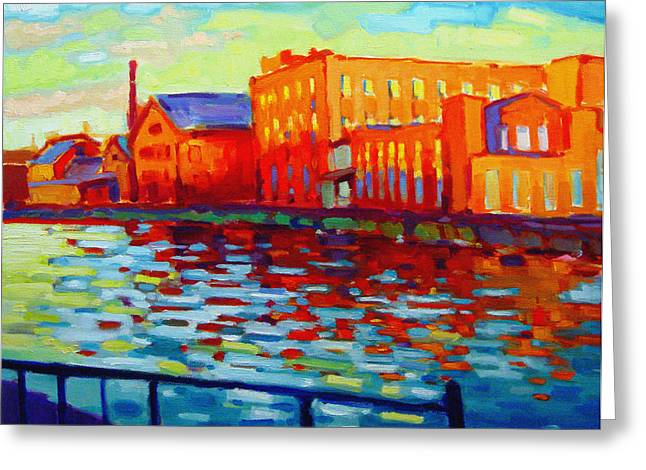 Holyoke Canal Greeting Card by Caleb Colon