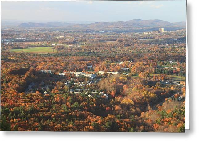 Holyoke Range Foliage View From Bare Mountain Greeting Card by John Burk