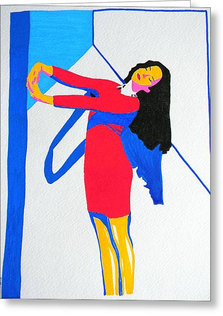 Homage To Carven Greeting Card
